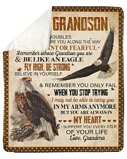 When Life's Troubles Eagle Grandma To Grandson Sherpa Fleece Blanket tile
