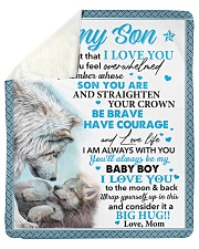 """Never Forget That I Love You Mom To Son Sherpa Fleece Blanket - 50"""" x 60"""" thumbnail"""