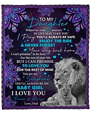 """Wherever Your Journey In Life Dad To Daughter Fleece Blanket - 50"""" x 60"""" front"""