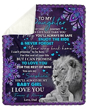 """Wherever Your Journey In Life Dad To Daughter Sherpa Fleece Blanket - 50"""" x 60"""" thumbnail"""