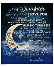 """Moon Be Brave Be Bold  Dad To Daughter Fleece Blanket - 50"""" x 60"""" front"""