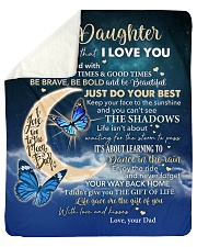 """Moon Be Brave Be Bold  Dad To Daughter Sherpa Fleece Blanket - 50"""" x 60"""" thumbnail"""