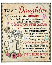 """Daughter Remember How Much You Are Loved Fleece Blanket - 50"""" x 60"""" front"""