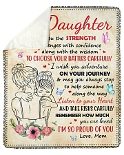 Daughter Remember How Much You Are Loved Sherpa Fleece Blanket tile