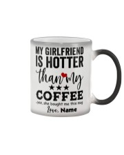 My Girlfriend Is Hotter To Boyfriend Personalized Color Changing Mug thumbnail