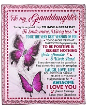 """Today Is A Good Day Butterfly GM To GD Fleece Blanket - 50"""" x 60"""" front"""
