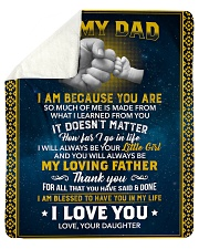 Dad I Am Blessed To Have You In My Life I Love You Sherpa Fleece Blanket tile