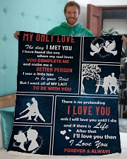 "My Only Love I Love You Forever And Always Sherpa Fleece Blanket - 50"" x 60"" aos-sherpa-fleece-blanket-50x60-lifestyle-front-05"