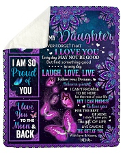 """Never Forget I Love U Butterfly Mom To Daughter Sherpa Fleece Blanket - 50"""" x 60"""" thumbnail"""