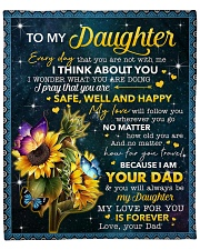"""My Love For U Is Forever Sunflower Dad To Daughter Fleece Blanket - 50"""" x 60"""" front"""