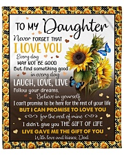 "Never Forget That I Love U Dad To Daughter Fleece Blanket - 50"" x 60"" front"