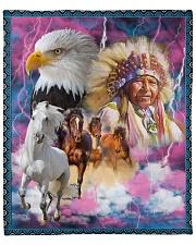 """Native American Fleece Blanket - 50"""" x 60"""" front"""