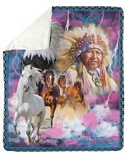 "Native American Sherpa Fleece Blanket - 50"" x 60"" thumbnail"
