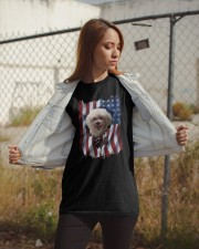 American Flag Poodle Classic T-Shirt apparel-classic-tshirt-lifestyle-07