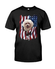 American Flag Poodle Classic T-Shirt front