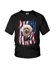 American Flag Poodle Youth T-Shirt thumbnail