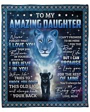 "Lion- Never 4get that I Love U Mom-To-Daughter Fleece Blanket - 50"" x 60"" front"