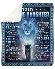 Lion- Never 4get that I Love U Mom-To-Daughter Sherpa Fleece Blanket tile