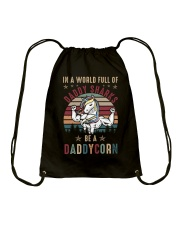 In A World Full Of Daddy Sharks Be A Daddycorn Drawstring Bag thumbnail