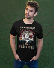 In A World Full Of Daddy Sharks Be A Daddycorn Classic T-Shirt apparel-classic-tshirt-lifestyle-front-43