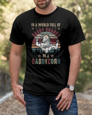 In A World Full Of Daddy Sharks Be A Daddycorn Classic T-Shirt apparel-classic-tshirt-lifestyle-front-53