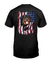 Rottweiler Flag Classic T-Shirt back