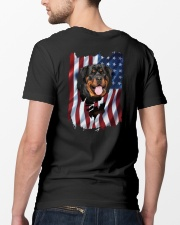 Rottweiler Flag Classic T-Shirt lifestyle-mens-crewneck-back-5