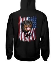 Rottweiler Flag Hooded Sweatshirt thumbnail