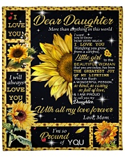 """More Than Anything In This World Mom To Daughter Fleece Blanket - 50"""" x 60"""" front"""