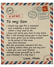 """I closed my eyss for a moment Mom-To-Son Fleece Blanket - 50"""" x 60"""" front"""