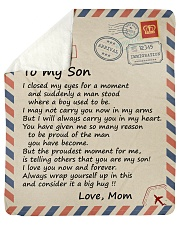 I closed my eyss for a moment Mom-To-Son Sherpa Fleece Blanket tile