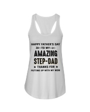 Happy Father's Day To My Amazing Step-Dad Ladies Flowy Tank thumbnail