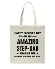 Happy Father's Day To My Amazing Step-Dad Tote Bag thumbnail