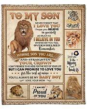 "Lion-Im So Proud Of U - Mom-To-Son Fleece Blanket - 50"" x 60"" front"