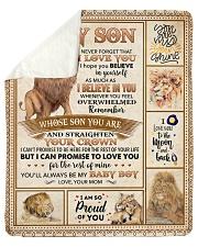 Lion-Im So Proud Of U - Mom-To-Son Sherpa Fleece Blanket tile