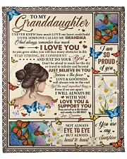 """Never Knew How Much Love My Heart To Granddaughter Fleece Blanket - 50"""" x 60"""" front"""