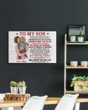 When Life's Troubles Try To Scare You Mom To Son 24x16 Gallery Wrapped Canvas Prints aos-canvas-pgw-24x16-lifestyle-front-19