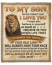 """Never Forget That I Love You - Lion Mom To Son Fleece Blanket - 50"""" x 60"""" front"""