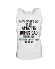 Happy Father's Day to my Amazing Bonus dad Unisex Tank thumbnail