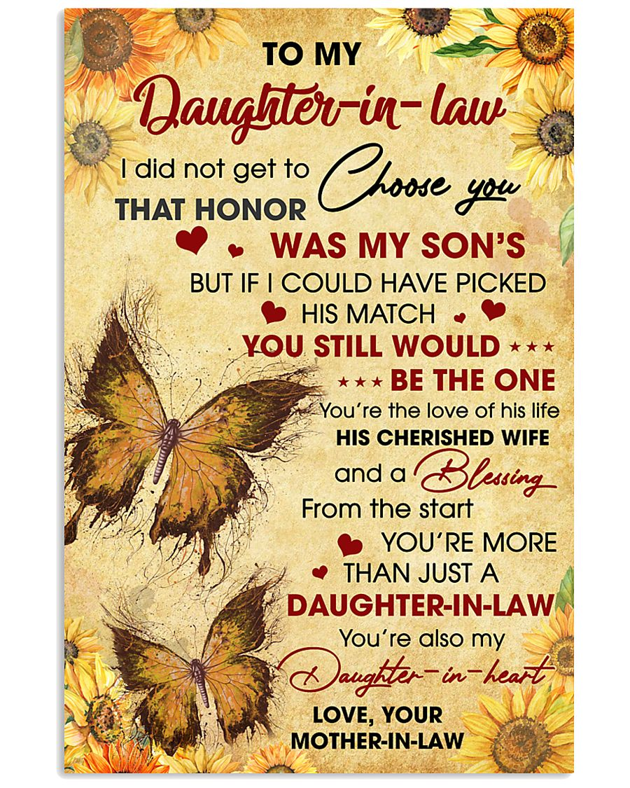 DIL Butterfly You're Also My Daughter-In-Heart 11x17 Poster
