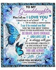 "When I Tell U I Love U Butterfly To Granddaughter Fleece Blanket - 50"" x 60"" front"