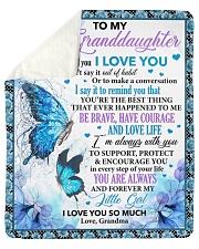 When I Tell U I Love U Butterfly To Granddaughter Sherpa Fleece Blanket tile