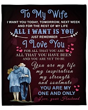 """To My Wife You Are My One And Only Fleece Blanket - 50"""" x 60"""" front"""