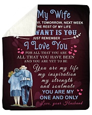 """To My Wife You Are My One And Only Sherpa Fleece Blanket - 50"""" x 60"""" thumbnail"""