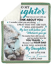 """Everyday I Think About You - Dad-To-Daughter Sherpa Fleece Blanket - 50"""" x 60"""" thumbnail"""