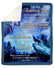 """Always Remember U Are My Sunshine Wolf Mom To Son Sherpa Fleece Blanket - 50"""" x 60"""" thumbnail"""
