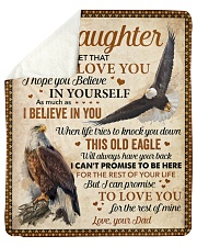 """Never Forget That I Love You Eagle Dad To Daughter Sherpa Fleece Blanket - 50"""" x 60"""" thumbnail"""