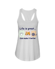 Life is great cats make it better Ladies Flowy Tank thumbnail