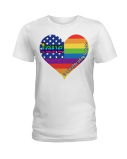 LGBT Love Is A Terrible Thing To Hate Ladies T-Shirt front