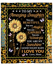 """You Are Beautiful Magical Capable Mom To Daughter Fleece Blanket - 50"""" x 60"""" front"""